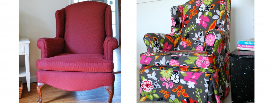 Funky Floral Wing Chair