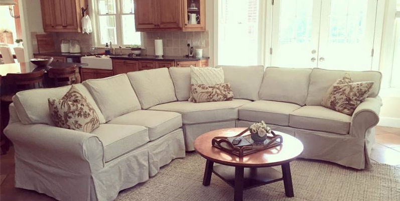 Custom Sectional Slipcover